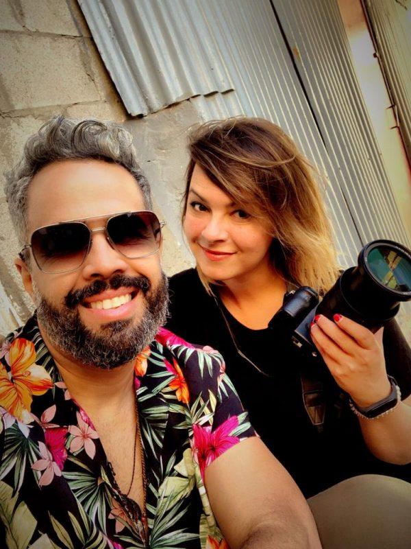 Daniel Santacruz con Lourdes Gamero