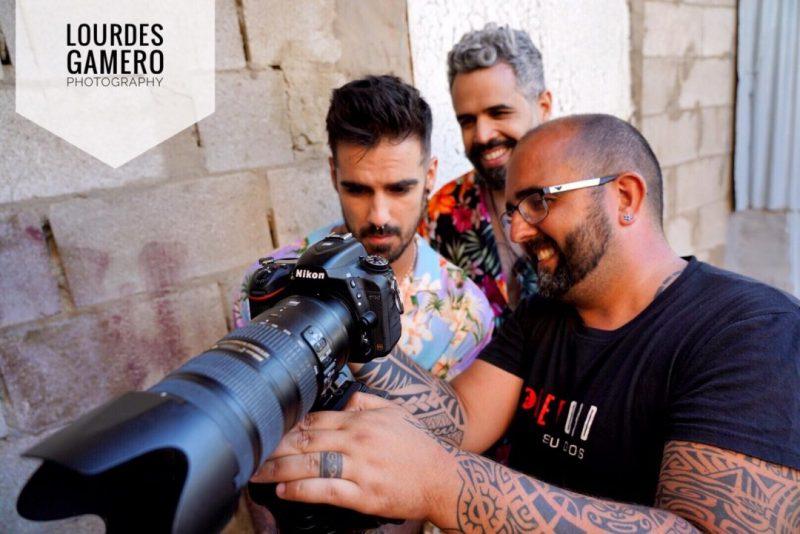 Rodaje de Tropical, con Daniel Santacruz y Mario Baro