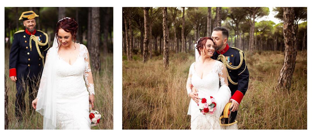 fotos de boda con uniforme